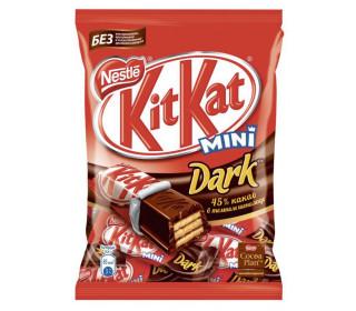 Вафельные конфеты KITKAT Mini Dark 45% какао в темном шоколаде, 185г купить с доставкой в Новосибирске
